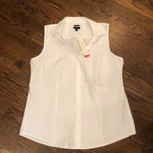 NEW Talbots white sleeveless shirt sz 10